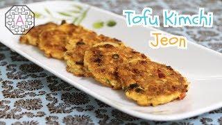 Korean Tofu Kimchi Jeon (두부 김치전)  Aeri&#39s Kitchen