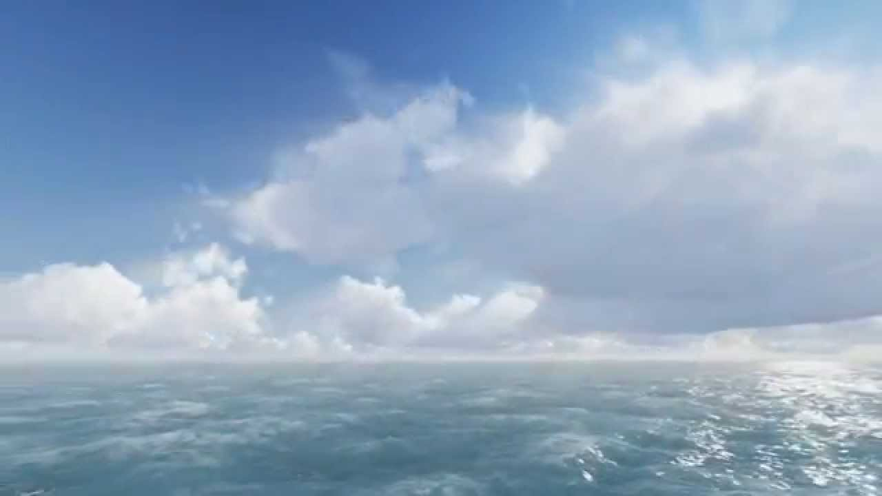 lumion test ocean volume clouds with key frame animation god rays