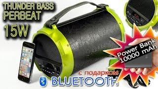 ОБЗОР: Bluetooth Бумбокс для Активного Отдыха Thunder Bass Perbeat 15W + Power Bank 10000mAh