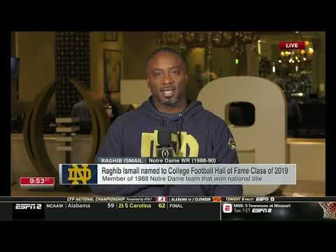 Announcement of 2019 College Football Hall of Fame Inductees on ESPN