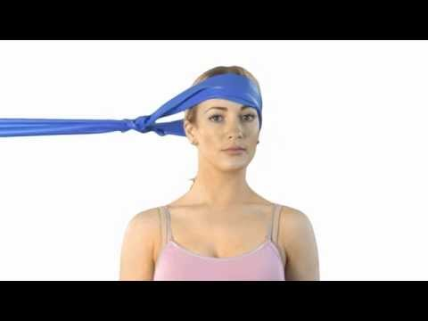 Neck rotation exercise band