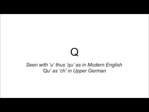 Old High German: Consonants