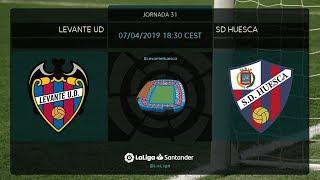 Calentamiento Levante UD vs SD Huesca