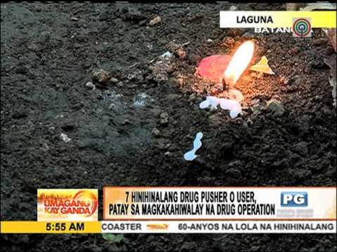 7 drug suspek patay sa mga lalawigan