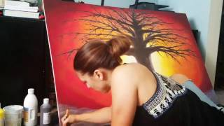 Video Time-lapse Art Video - Tree of Life Painting Creation download MP3, 3GP, MP4, WEBM, AVI, FLV Agustus 2018