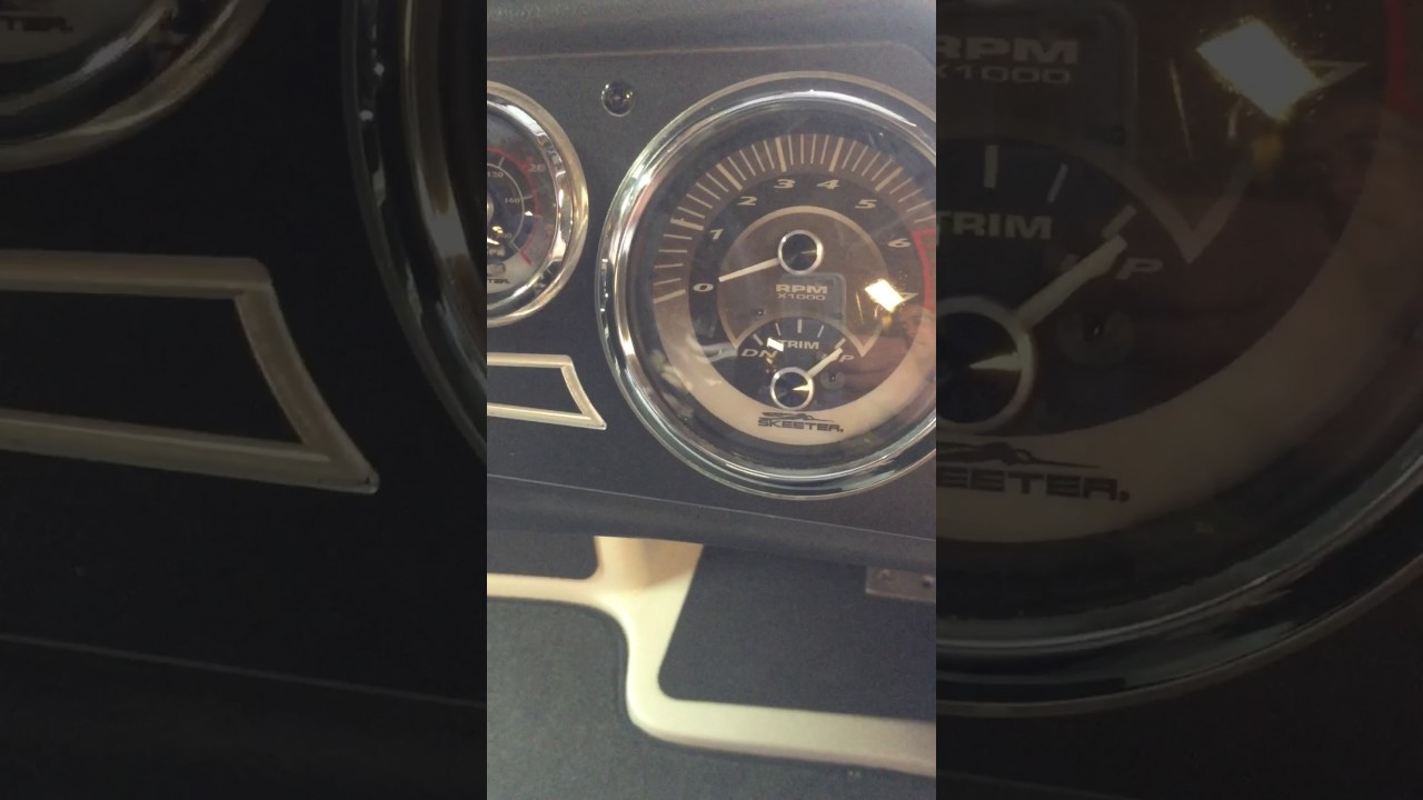 hight resolution of yamaha sho trim gauge analog adjustment