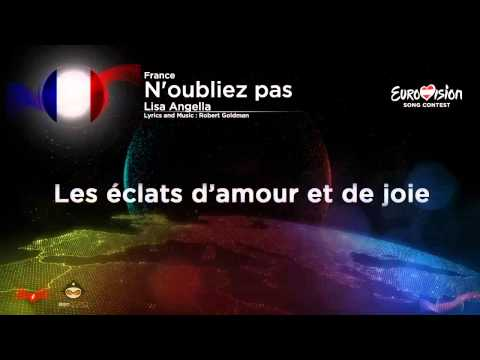 Lisa Angell-N'oubliez pas (France) Eurovison Song Contest 2015