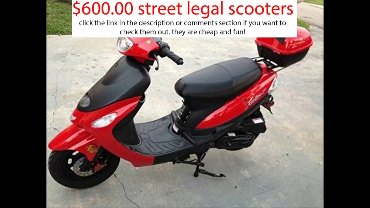 600 Cheap Street Legal Gas Scooters Taotao Scooters Youtube