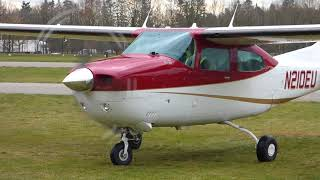 Cessna T210L [FunForLouis] Landing, Startup and Takeoff [EHSE]