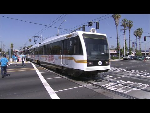 Metro Expo line Extension train ride from Culver city to Downtown Santa Monica