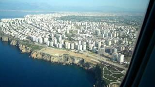Посадка в Анталии авиакомпания Nord Wind
