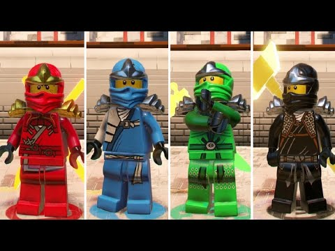 The LEGO Ninjago Movie Videogame - How To Unlock Classic Ninjas (Kai, Jay, Cole, Lloyd, Nya, Zane)