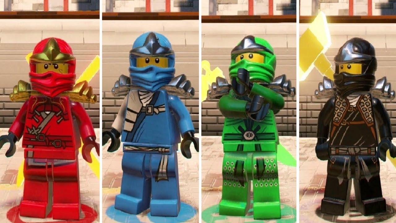The lego ninjago movie videogame how to unlock classic - Ninjago kai jay zane cole lloyd ...