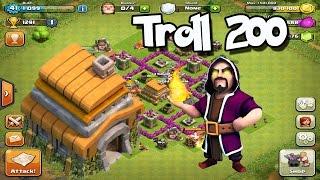 Troll200 gana copas trolleando en defensa Clash of clans  