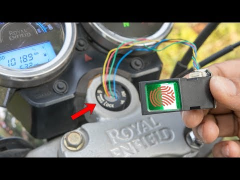How to Make a Smart Unlock System For Motorcycle - Keyless - Fingerprint