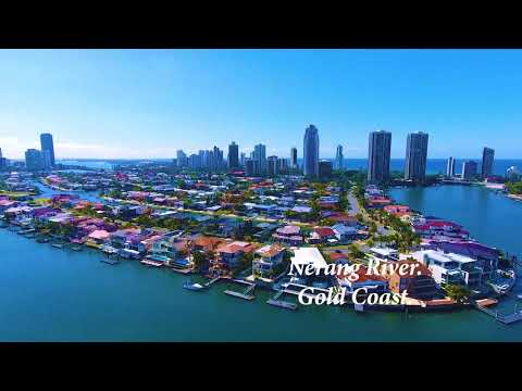 NERANG RIVER 1 by 4K drone camera.