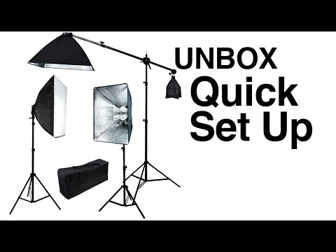pro-3-lights-photo-studio-video-continuous-softbox-lighting-kit-boom-stand-light-unboxing