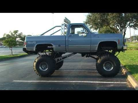 SWEET REDNECK CHEVY FOUR WHEEL DRIVE PICKUP TRUCK FOR SALE IN FLORIDA. IN SONY HD