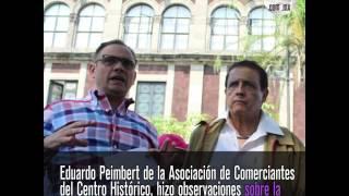 Empresarios y secretario de Administración realizan recorrido en Plaza de Armas