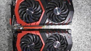Прогар MSI GTX1080 ремонтируем