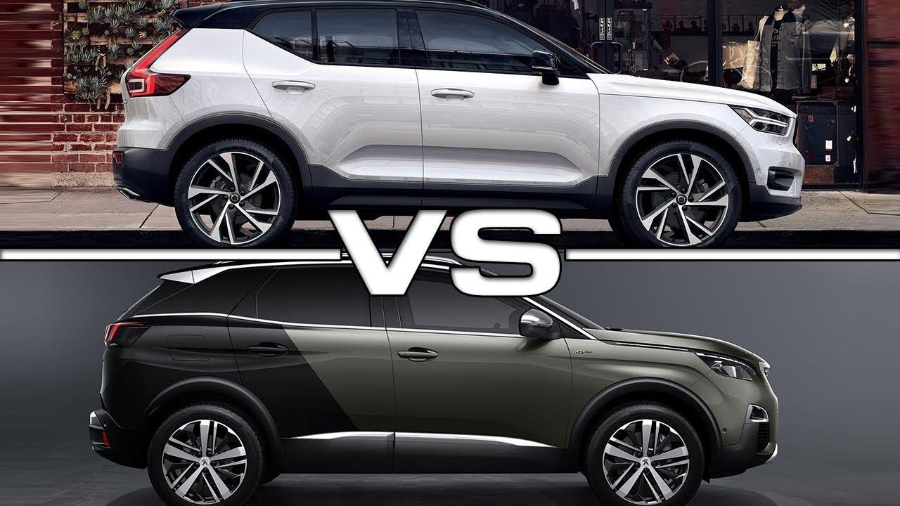 2018 Volvo XC40 vs 2017 Peugeot 3008 - YouTube