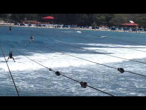 Dragon's Breath Zip-Line, world's longest zip line, Labadee, Haiti, Caribbean, North America