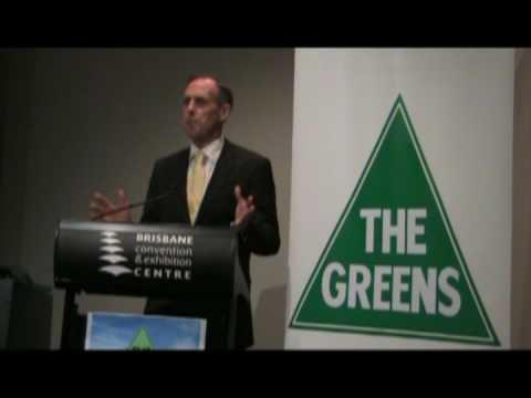 Queensland Greens Election Launch 2009: Green Jobs 4 Queensland - Bob Brown