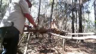 Cantilever Table Bushcraft Table Elevated Fire Sausage Coffee Primitive Kitchen Lashings Eagle Jon