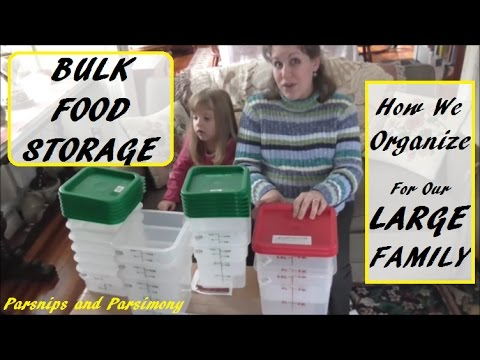 How We Organize Our Bulk Food For Our Large Family