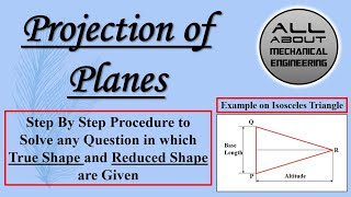 Projection of Planes (Isosceles Triangle)