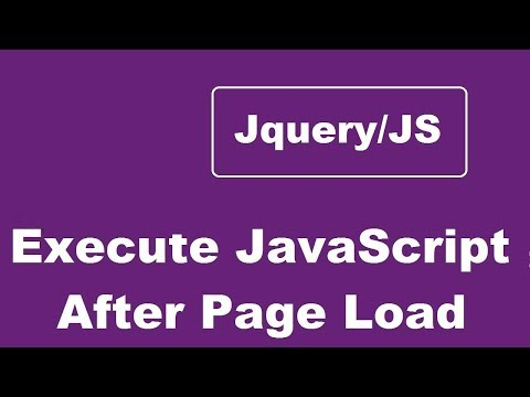 Execute Javascript After Page Load