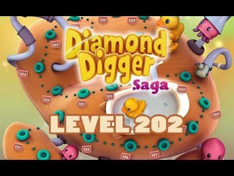 Diamond Digger Saga Level 202 Tips & Video