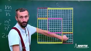 Математика для всех. Алексей Савватеев. Лекция 6.5. Иррациональность корня из двух - 1