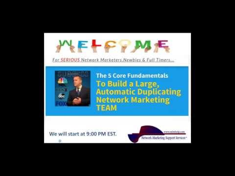 The 5 Core Steps to Building  a Duplicating Network Marketing Organization