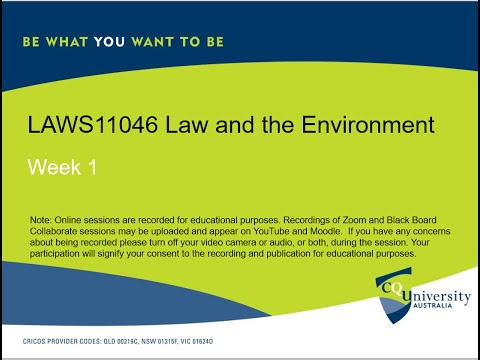 LAWS11046_1 Law and the Environment