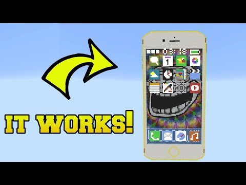 REAL IPHONE WITH WORKING APPS IN MINECRAFT!! thumbnail