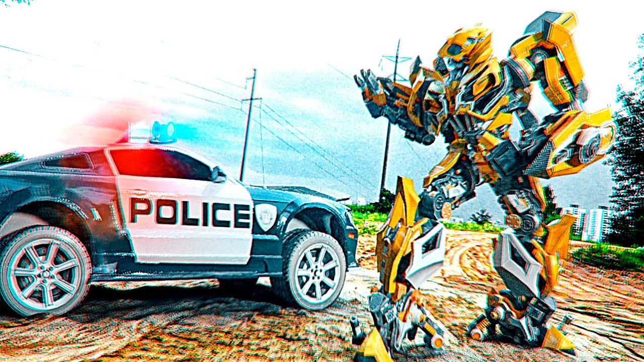 Transformers in live Action Bumblebee vs Barricade 2021 optimus prime