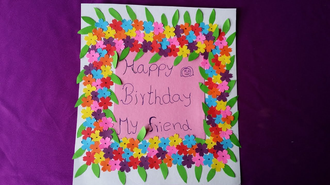 Birthday Card Decoration Ideas For Kids