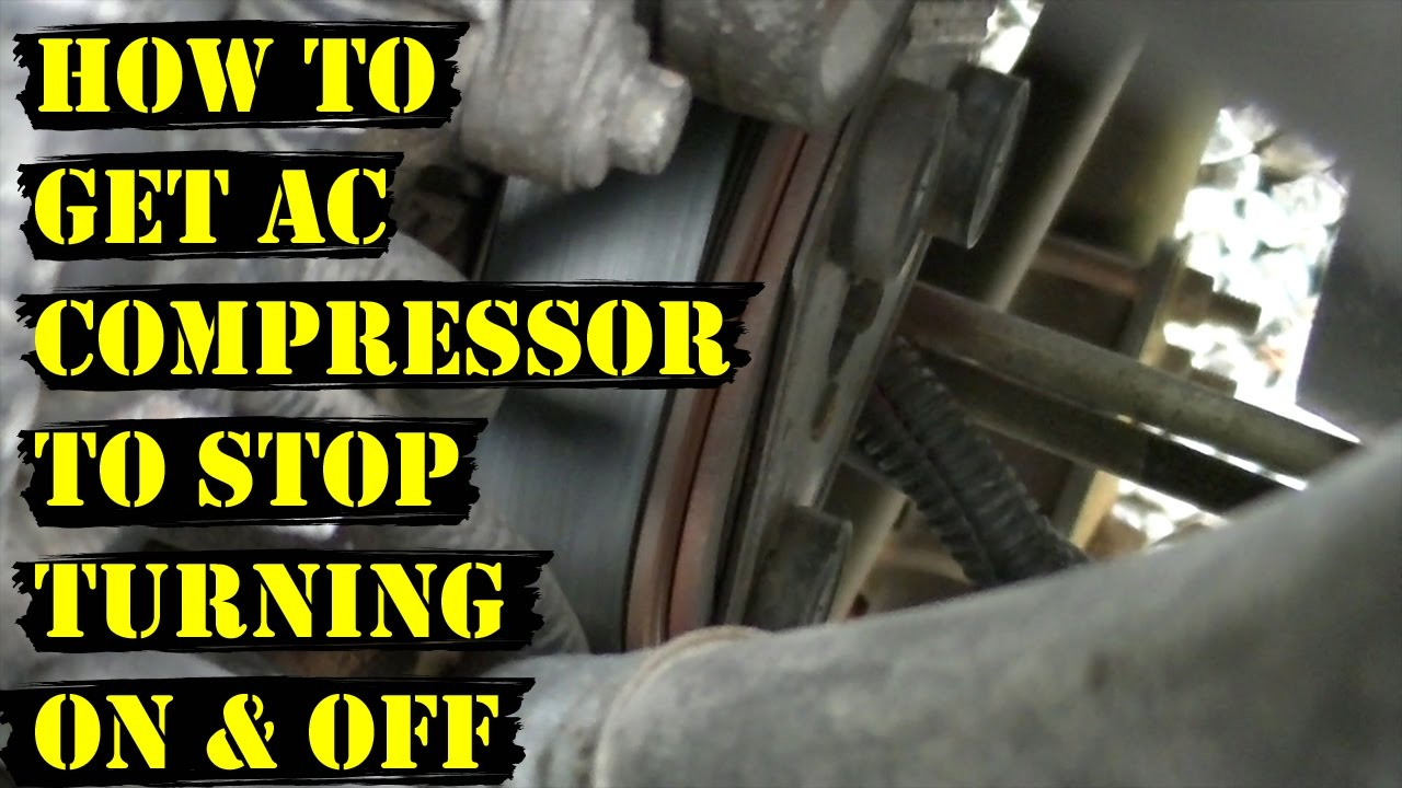 How to Get AC Compressor to STOP Turning ON & OFF Repeatedly