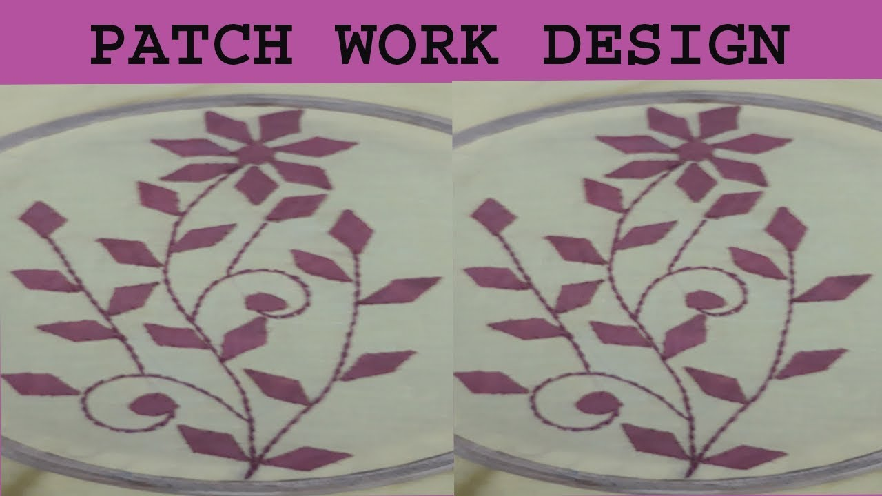 Hand embroidery aplic work small leaf design tutorial rilli work