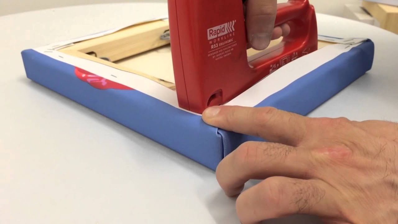 How To Fold Canvas Corners Youtube