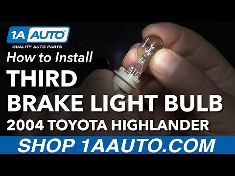How to Install Replace Third Brake Light Bulb 2004 Toyota Highlander