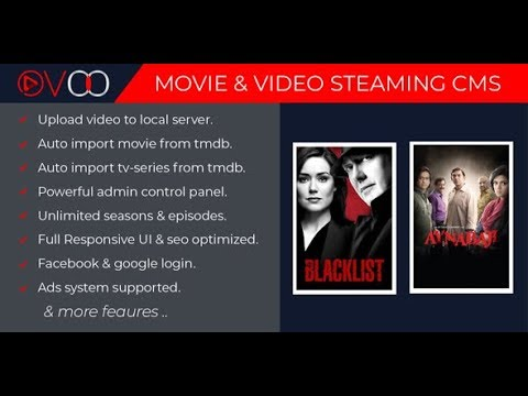 OVOO V2.0 - Movie & Video Streaming CMS With Unlimited TV-Series
