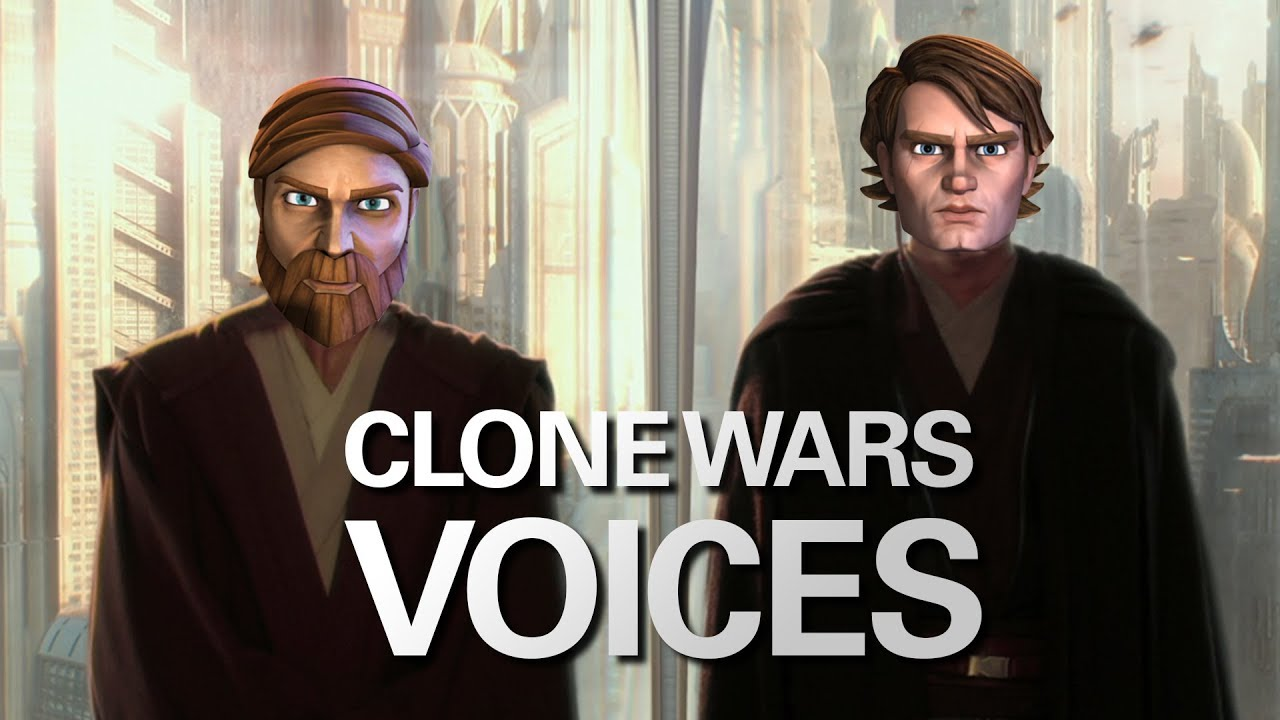 Star Wars Clone Wars Voice Actors, Dubbed Over the Prequels