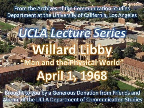 Willard Libby Lecturing At UCLA 4/1/1968