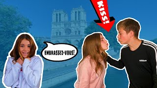 Speaking Only FRENCH To Everyone! SIMON SAYS CHALLENGE **THEY KISSED💋**| Clementine @Piper Rockelle