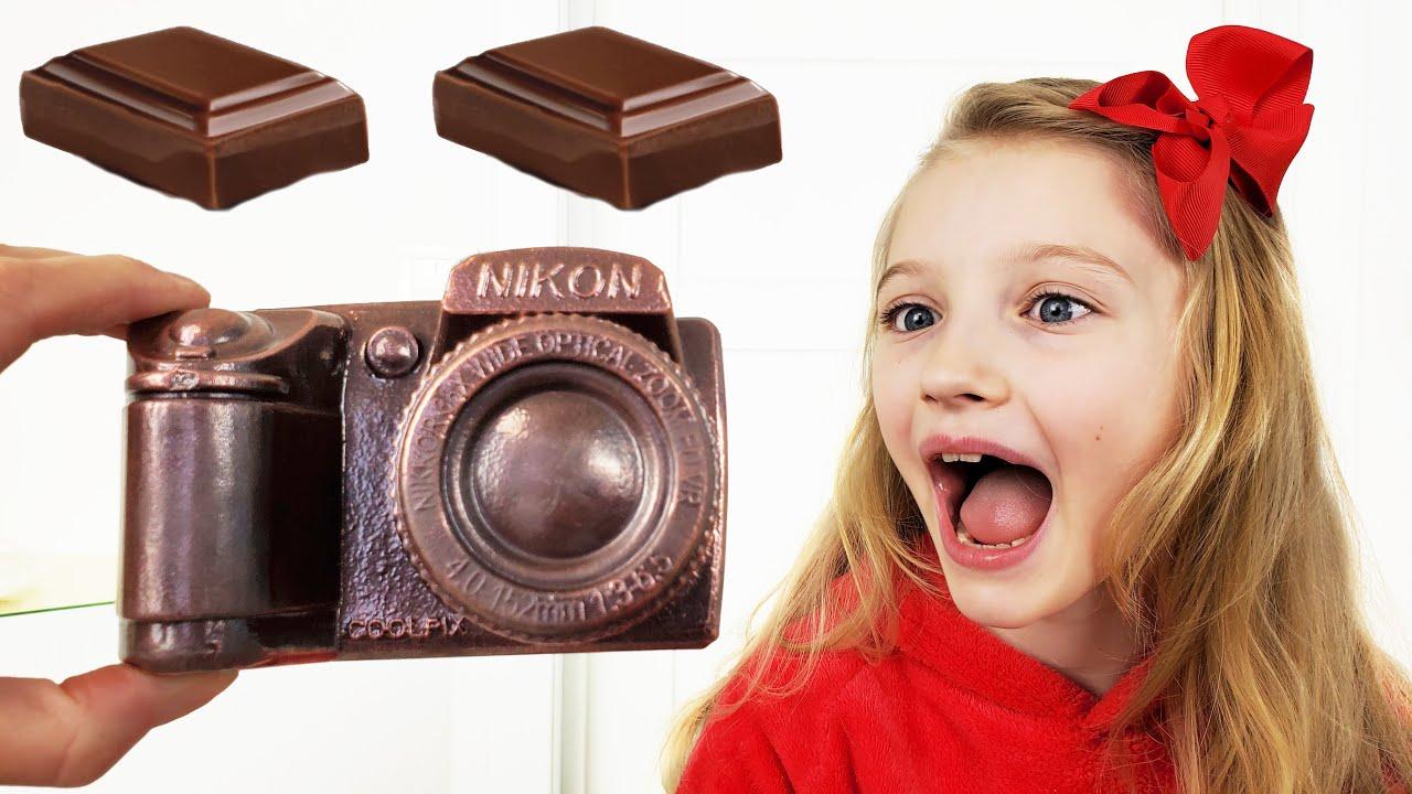 Шоколад и настоящее игра с Полиной