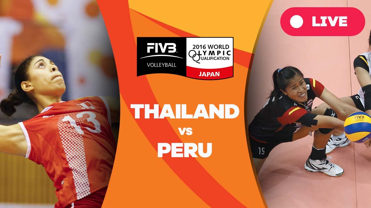 Thailand V Peru 2016 Women S World Olympic Qualification Tournament Youtube