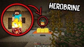 I found a Herobrine Shrine in my Minecraft World, This is What Happened Next... (Herobrine Sighting)