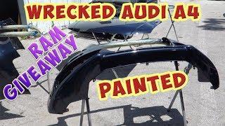 Rebuilding Wrecked Audi A4 Avant! Painted! (Part 4)
